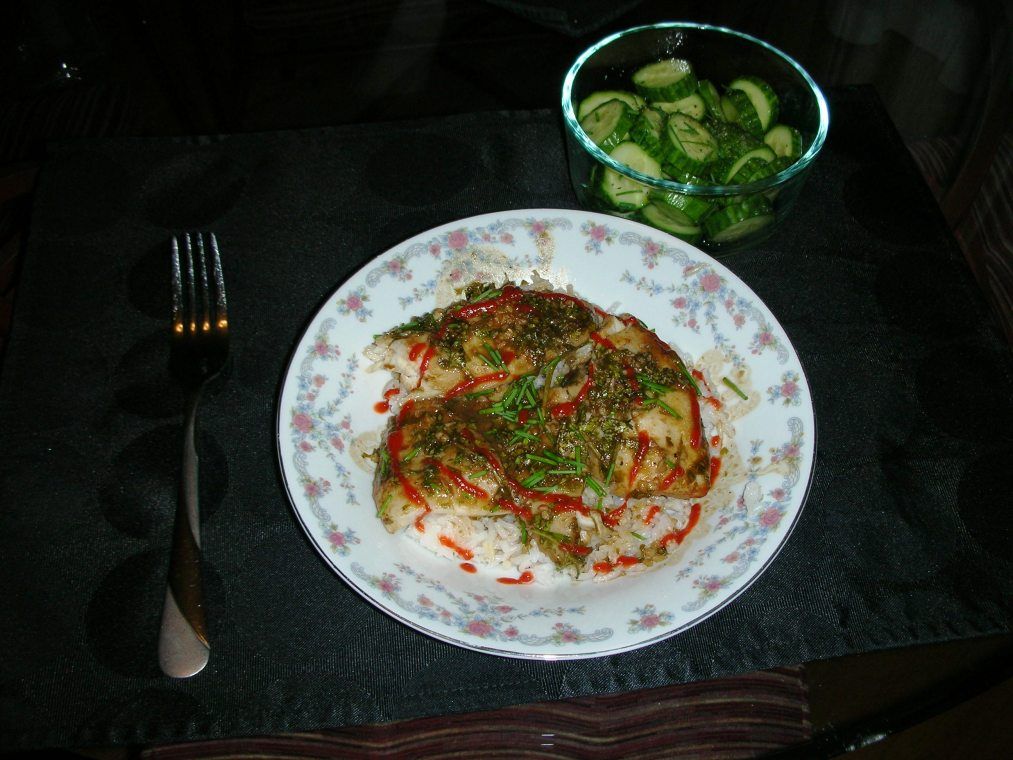 Ginger and Cilantro Baked Tilapia | The Spicy Simmer