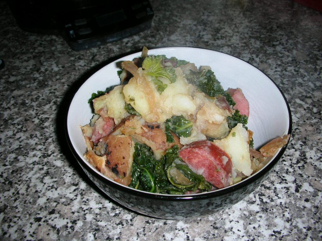 German Potato Salad with Kielbasa