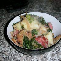 German Potato Salad with Kielbasa