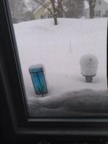 Snowed in.